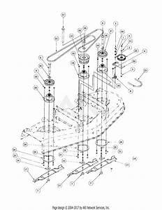 Mtd 2260f  55af3b7j195 Parts Diagram For Deck Spindle Assembly