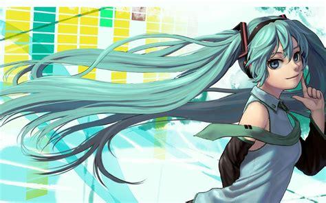 hatsune miku anime design hd wallpaper preview