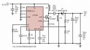 Lt3758 8v To 72v Input  12v Output Sepic Converter Circuit Collection