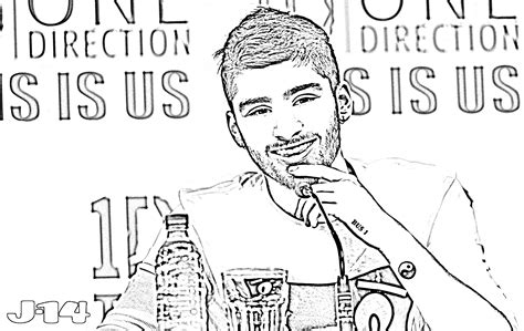 10 Printable One Direction Coloring Pages 7