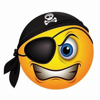 Emoji Pirate Smiley Emoticon Piracy Pirates Clipart