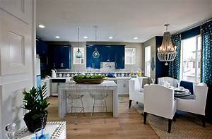 blue and white interiors living rooms kitchens bedrooms With kitchen colors with white cabinets with living room metal wall art