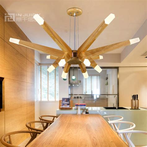 contemporary dining room ceiling lights nordic modern led wood ceiling light l fixtures