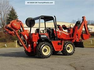 2003 Ditch Witch Rt90h Vibratory Cable Plow W Backhoe