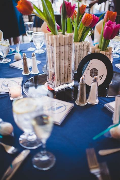 music themed table decorations 22 best non floral wedding centerpieces images on