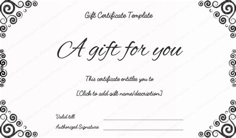 bussiness gift certificate template gift certificate template card giftcoupon