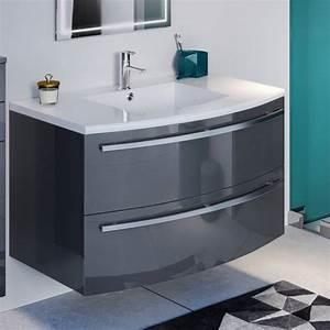 Meuble Rangement Salle De Bain But : meuble salle de bain design gris fabrication en france ~ Dallasstarsshop.com Idées de Décoration