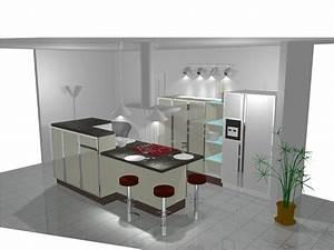 Ilot Cuisine Table : ambiance cuisine meubles contarin ~ Teatrodelosmanantiales.com Idées de Décoration