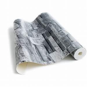 Papier Peint Pierre De Parement : papier peint pierre de parement grise ~ Preciouscoupons.com Idées de Décoration
