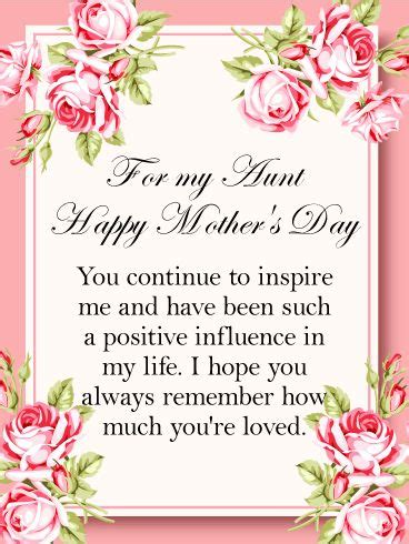 beautiful mothers day card    special aunt