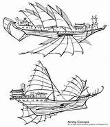 Airship Steampunk Shenkuu Drawing Deviantart Concepts Ship Shoomlah Ships Concept Flying Blimp Chinese Air Neopets Sails Vector Airships Boat Fantasy sketch template