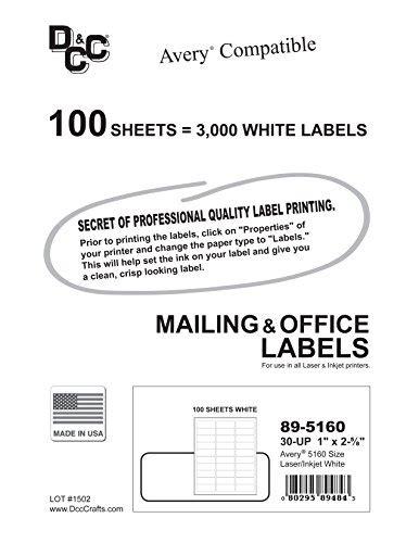 3 000 dcc 174 generic white self adhesive address labels 1