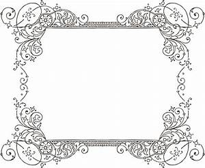 Gorgeus clipart decorative frame - Pencil and in color ...