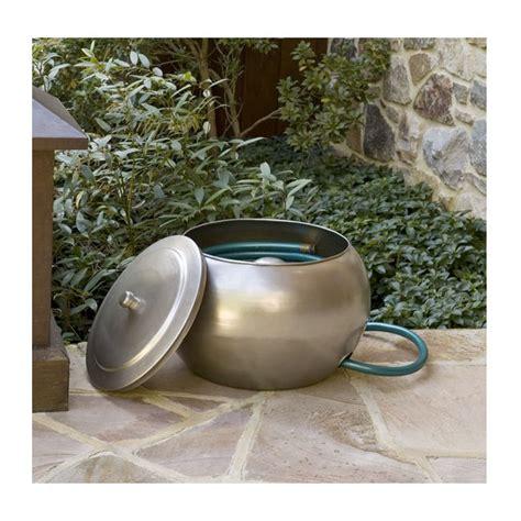 150 Feet Garden Hose Holder Free Lid Steel Decorative