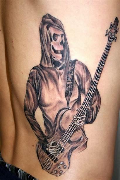 Guitar Tattoo Reaper Tattoos Designs 2face Traditional
