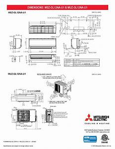 Mini Split 12 000 Btu Mitsubishi 23 1 Seer Heat Pump System Muzgl12nau1  Mszgl12nau1