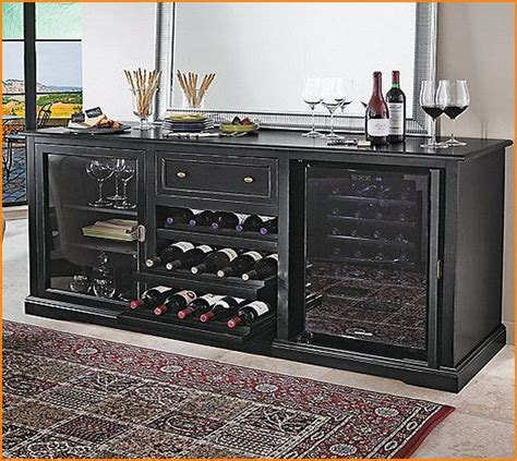 wine bar furniture with refrigerator home design ideas