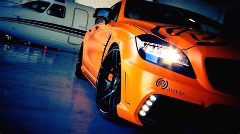 Orange Car Hd Wallpaper
