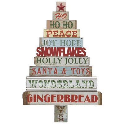Holiday Word Tree Wall Decor Would Be A Good Diy! And