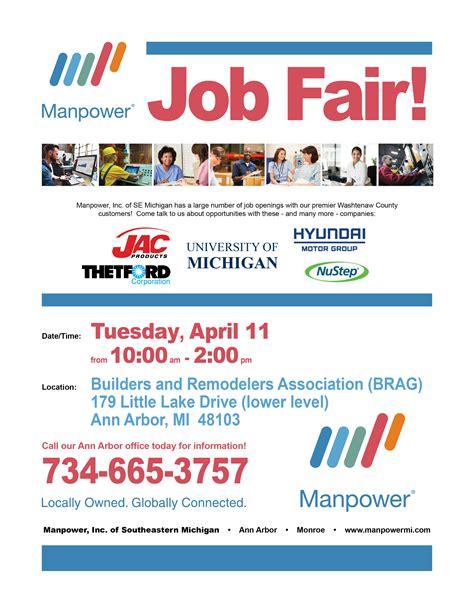 light industrial job opportunities manpower to host manufacturing job fair in ann arbor on 4