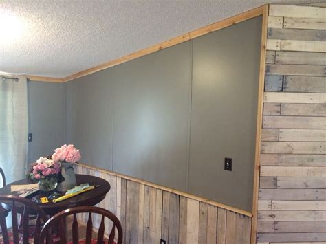 Cedar Wainscoting by White Washed Pallet Accent Wall And Wainscoting Cedar