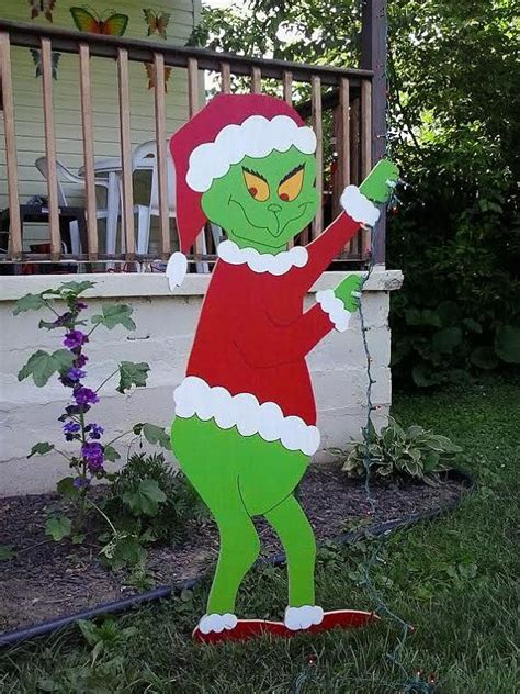 grinch wood yard art patterns woodworking projects plans