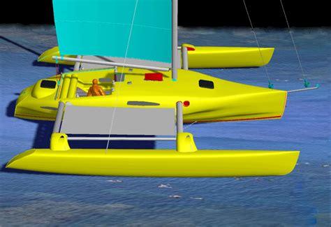 Trimaran Kurt Hughes by Kurt Hughes Multihull Design Catamarans And Trimarans