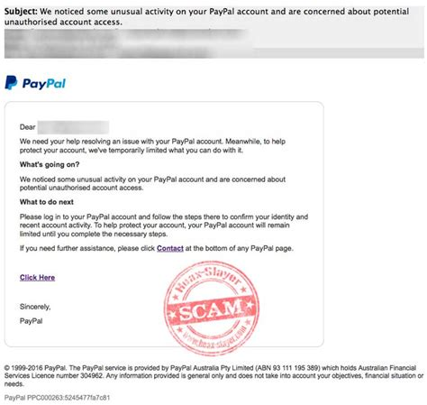 paypal fraud department phone number we noticed some activity paypal phishing scam