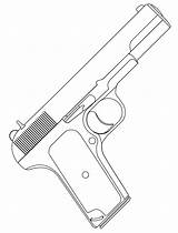 Coloring Pages Pistol Boys Handgun sketch template