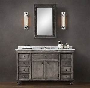 zinc vanity restoration hardware bathroom oasis pinterest With bathroom vanities like restoration hardware