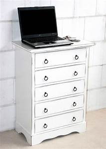 Möbel Farbe Weiß : massivholz schubladenkommode wei shabby chic mit 5 ~ Sanjose-hotels-ca.com Haus und Dekorationen