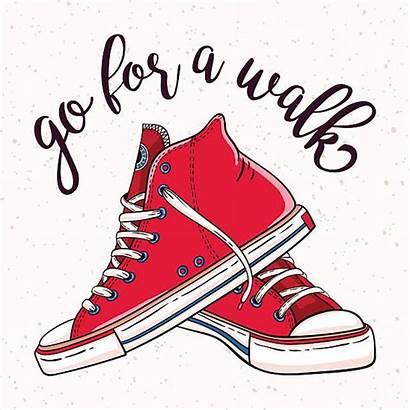 Sneakers Illustration Walking Shoes Clipart Shoe Pair