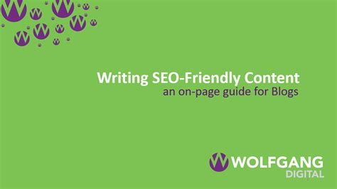 Writing Seo Friendly Content Page Guide For Blogs