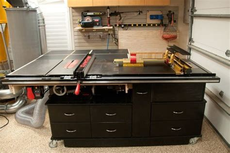 sawstop cabinet saw outfeed table sawstop and incra by donj lumberjocks