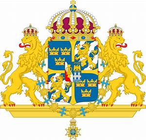 File Great Coat Of Arms Of Sweden  Without Mantle  Svg