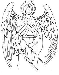 Saint Gabriel Coloring Page | Coloring pages, Colorful