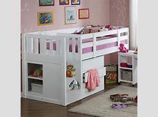 Kids Children's Neutron Mid Sleeper Single Cabin Bunk Bed