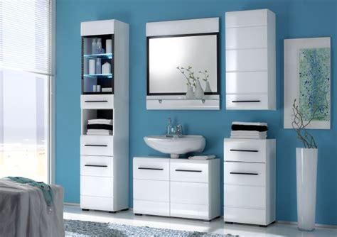Ikea Service Hotline Kostenlos by Badm 246 Bel Badezimmer Quot Sabine Quot 5tlg Set In Hochglanz Weiss