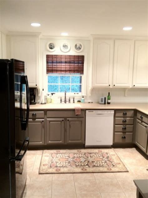 best 25 two toned cabinets ideas on 570 0e49388f5fcb686000624ecdd8517bd7 taupe kitchen cabinets two toned cabinets
