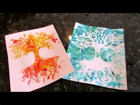 shaving cream prints abstract technique youtube