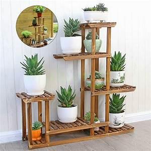 5, Tier, Fir, Wood, Plant, Stand, Decorative, Planter, Holder, Flower, Pot, Shelf, Rack, Usa, 8438669587839