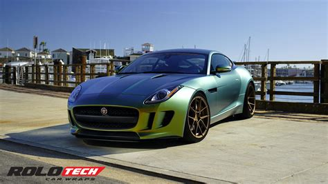 Jaguar F Type Full Wrap, Fresh Spring Avery Color Flow