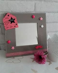 Cadre Chambre Fille : cadre miroir a poser d coratif pour chambre de fille ~ Nature-et-papiers.com Idées de Décoration