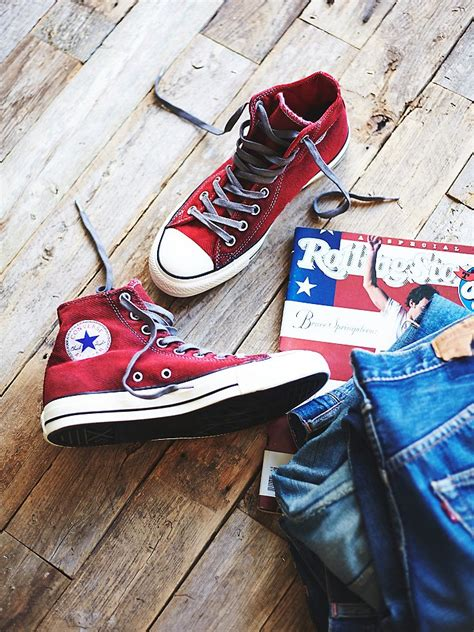 lyst  people converse womens overdyed wash high top