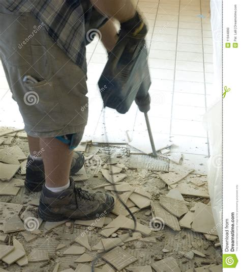ceramic tile floor demolition 1 stock photo image 11944890