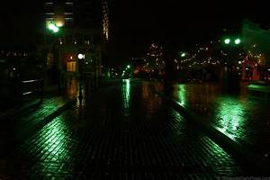 Empty streets and reflections on a rainy night ...