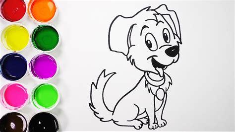 Dibuja y Colorea Un Lindo Perro Dibujos Para Niños