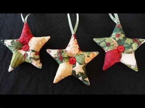 patchwork star ornaments youtube