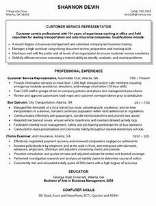 customer service representative resume sample With career objective for customer service