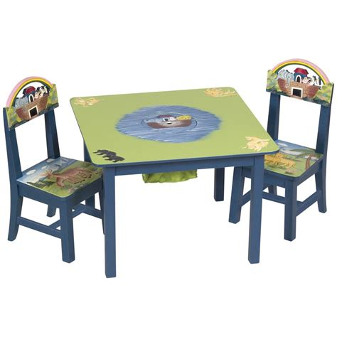 guidecraft 174 noah s ark table and chair set 212302 kid s